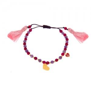 دستبند طلا زنانه طرح قلب ولنتاین کد xb812
