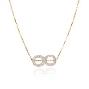 گردنبند طلا زنانه طرح بی نهایت کد xn1242