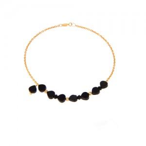 دستبند طلا زنانه با سنگ و گوی البرنادو کد xb816