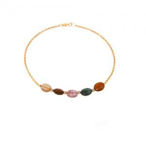 دستبند طلا زنانه با سنگ و گوی البرنادو کد xb818
