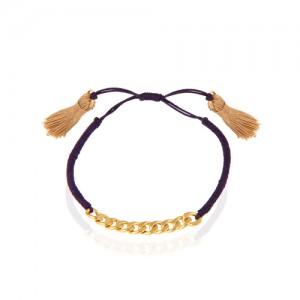 دستبند طلا زنانه زنجیر کارتیه  کد xb819