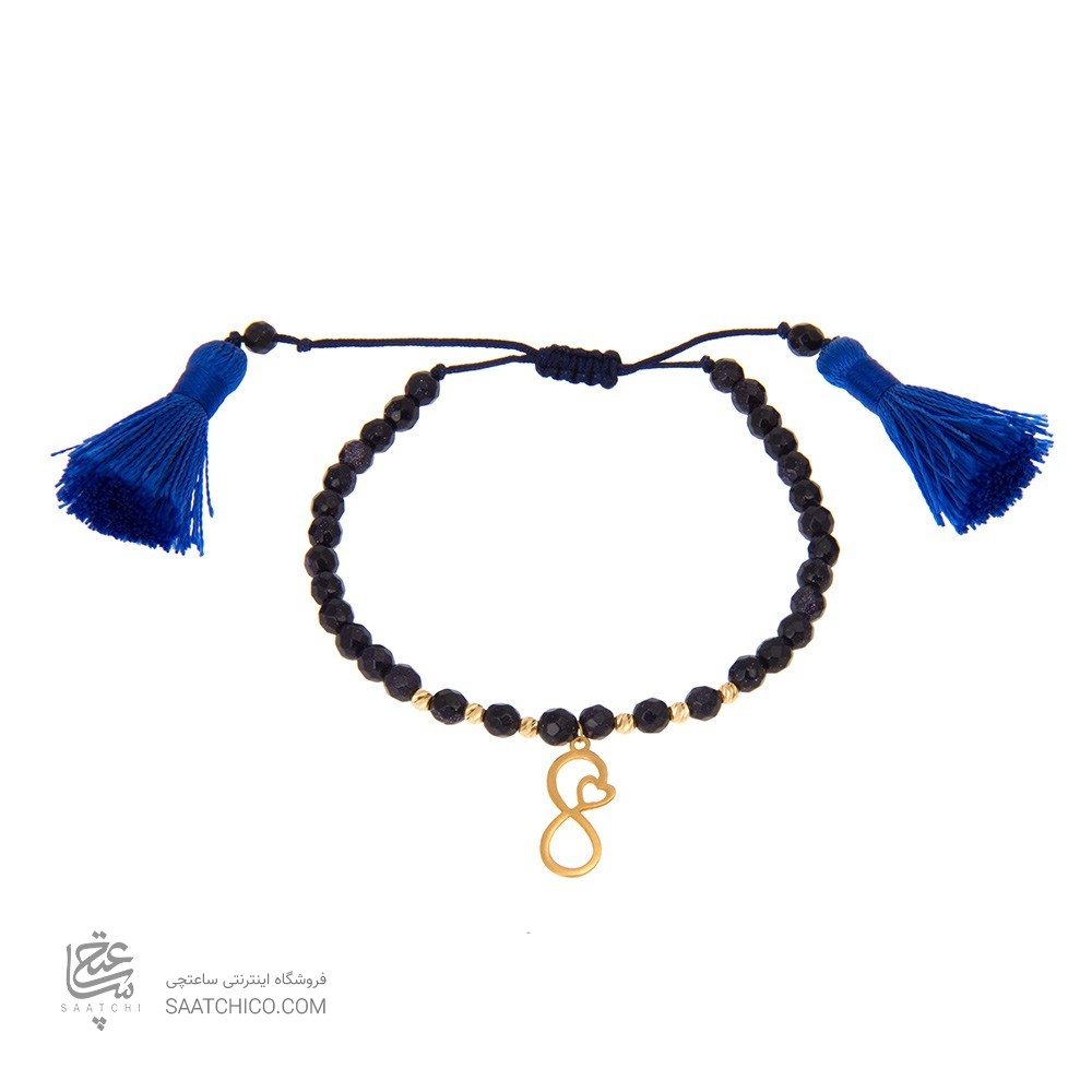 دستبند طلا زنانه طرح بی نهایت کد xb823