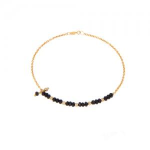 دستبند طلا زنانه با سنگ و گوی البرنادو کد xb831