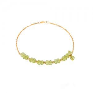 دستبند طلا زنانه با سنگ و گوی البرنادو کد xb833