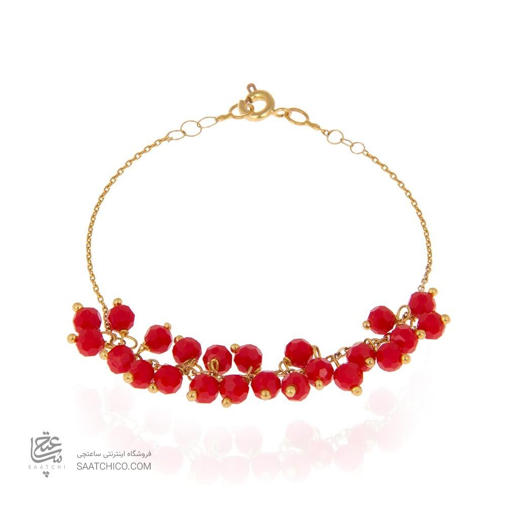 دستبند طلا زنانه با سنگ کد xb843