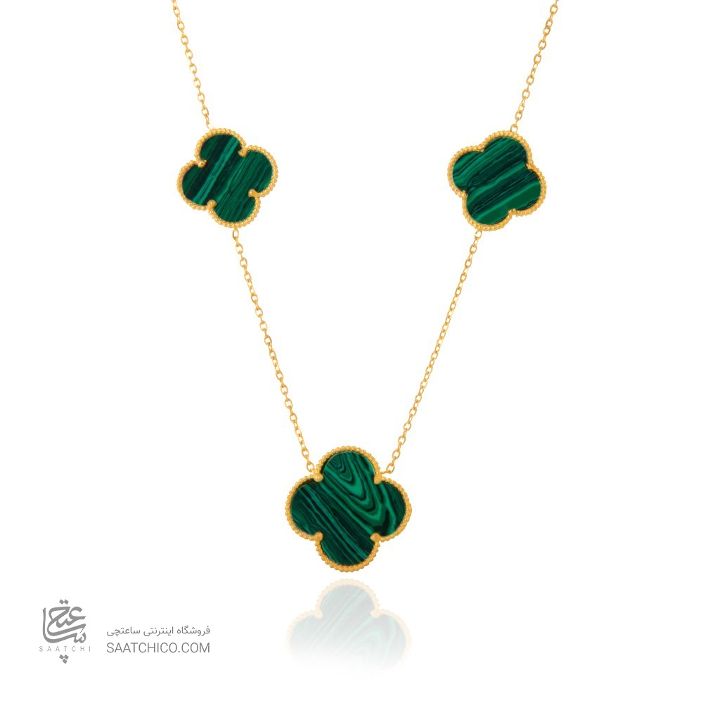 گردنبند طلا زنانه طرح ونکلیف کد xn119