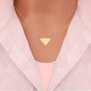 گردنبند طلا زنانه طرح هندسی با گوی البرنادو کد xn122