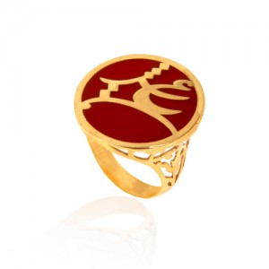 انگشتر طلا طرح عشق کد cr363