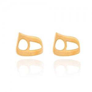 گوشواره طلا زنانه طرح نیمانی کد ce332