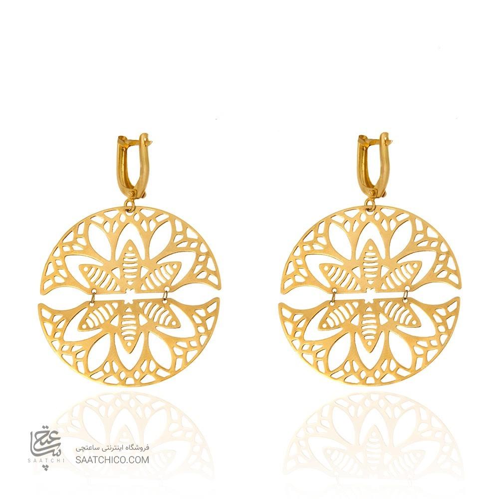 گوشواره طلا زنانه طرح اسلیمی کد le601