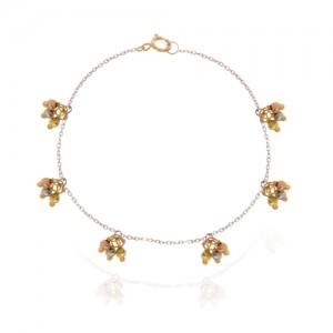 دستبند طلا زنانه با گوی البرنادو کد xb853
