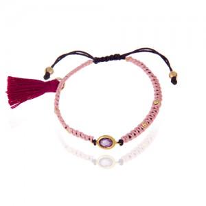 دستبند طلا زنانه با مارکو و گوی طلا کد xb857