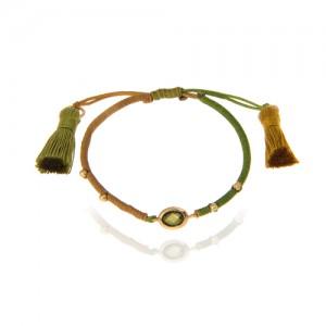 دستبند طلا زنانه با مارکو و گوی طلا  کد xb859