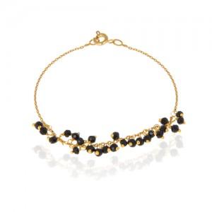 پابند طلا زنانه با سنگ کد XA105