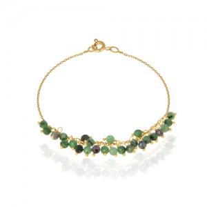 پابند طلا زنانه با سنگ کد xa107