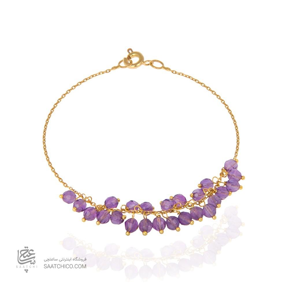 پابند طلا زنانه با سنگ کد XA109
