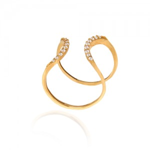 انگشتر طلا زنانه با نگین کد cr368