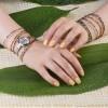 دستبند سنگ با گوی طلا مدل البرنادو کد xb873