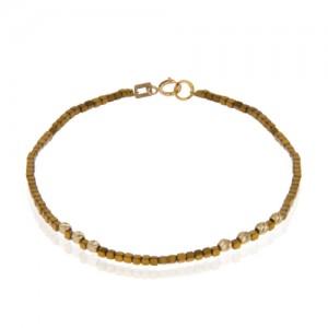 دستبند طلا زنانه با گوی البرنادو کد xb873