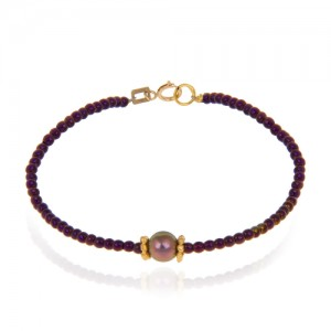 دستبند طلا زنانه با مروارید کد xb875