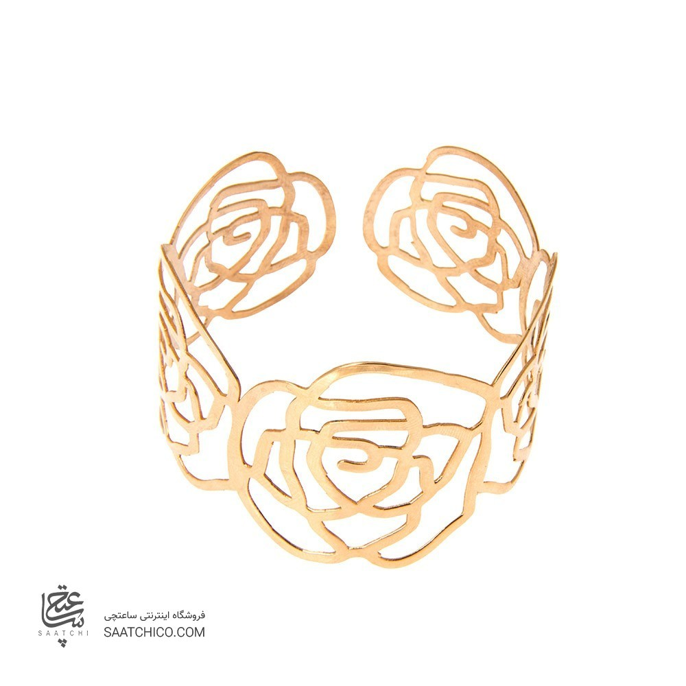دستبند طلا زنانه طرح شنل کد lb101