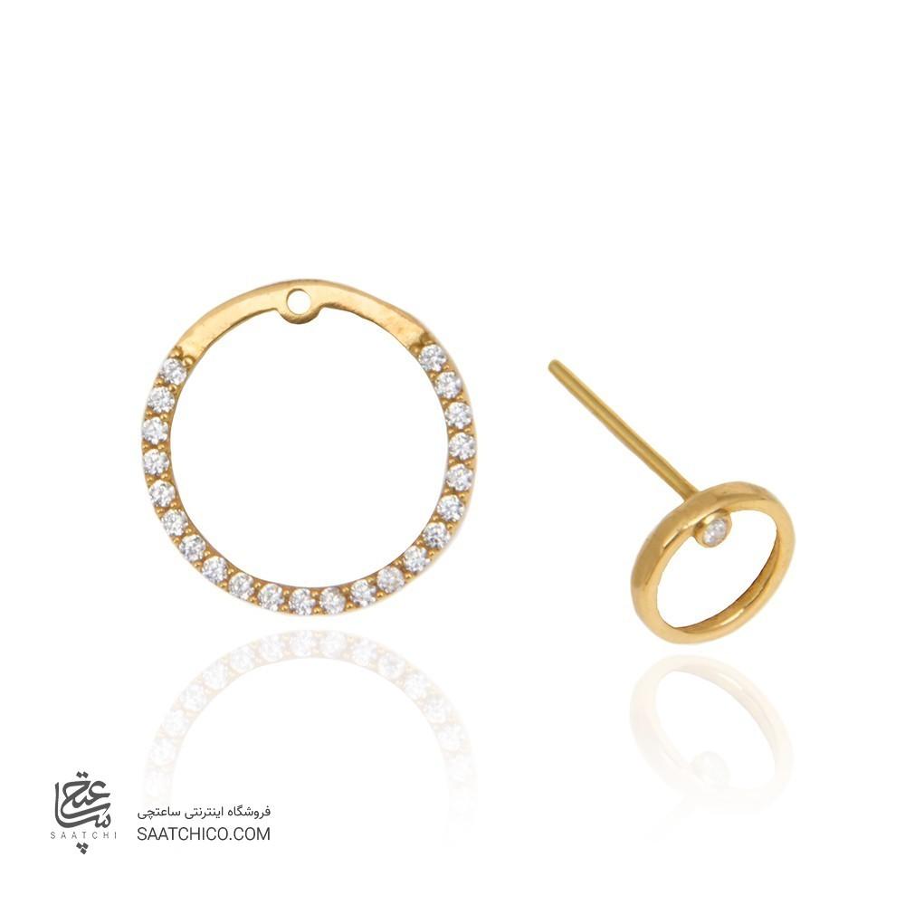 گوشواره طلا زنانه با نگین کد ce334