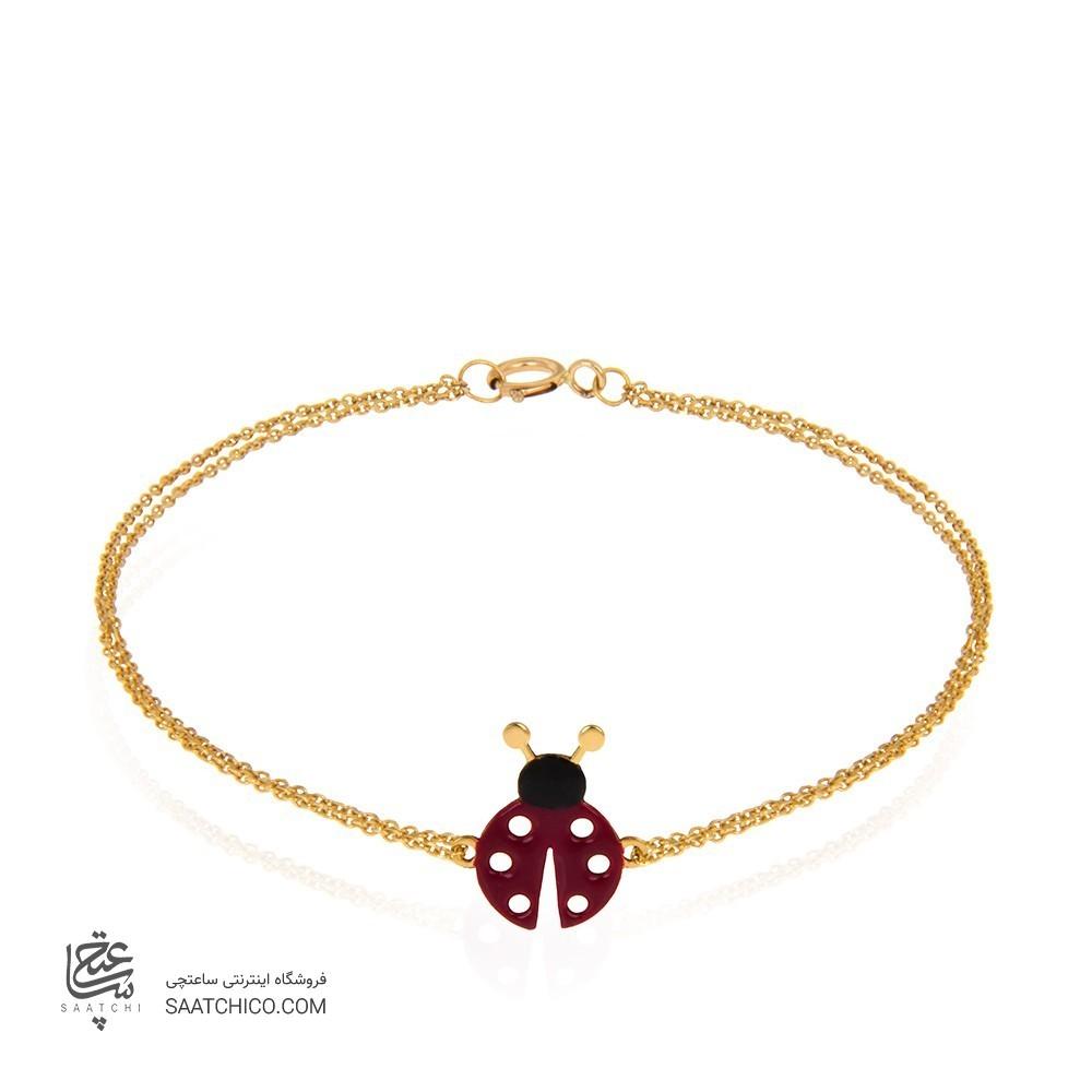 دستبند طلا کودک طرح کفشدوزک کد XB881