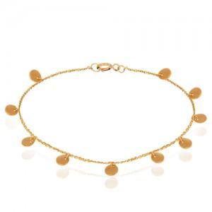 دستبند طلا زنانه با پولک کد xb888
