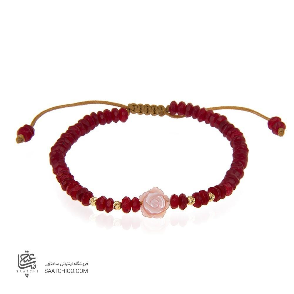 دستبند طلا زنانه با صدف کد xb890