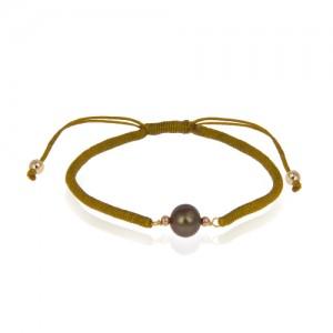 دستبند طلا زنانه با مروارید کد xb893