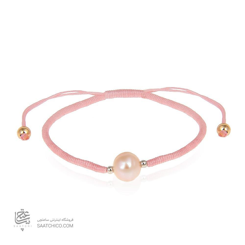 دستبند طلا زنانه با مروارید کد xb897