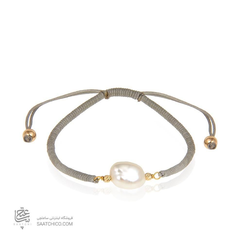دستبند طلا زنانه با مروارید باروک کد xb898