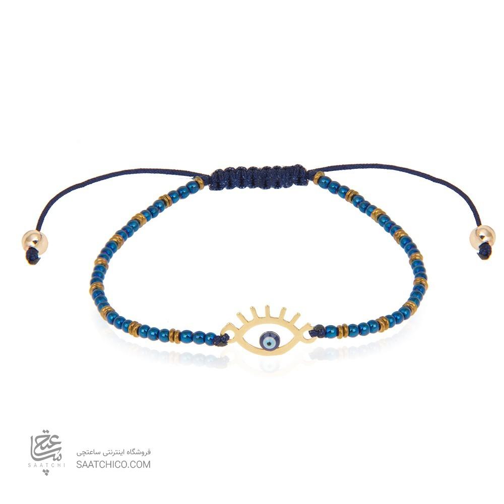 دستبند طلا زنانه طرح چشم  نظر کد xb901