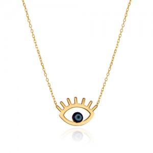 گردنبند طلا زنانه طرح چشم نظر کد cn359