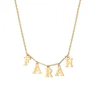 گردنبند طلا زنانه طرح اسم کد ln803