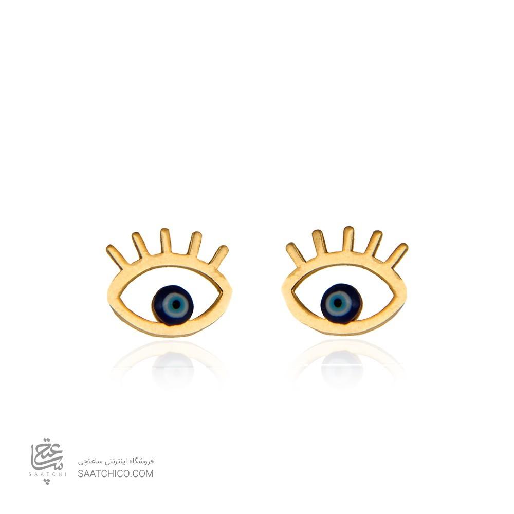 گوشواره طلا زنانه طرح چشم نظر کد ce335