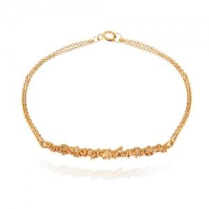 دستبند طلا زنانه با نگین کد cb324a