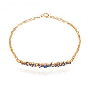 دستبند طلا زنانه با نگین کد cb324e