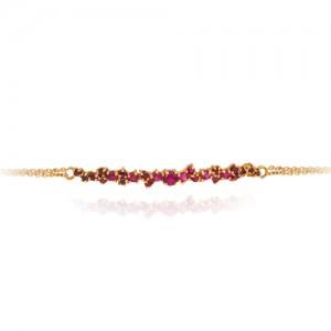دستبند طلا زنانه با نگین کد cb324f