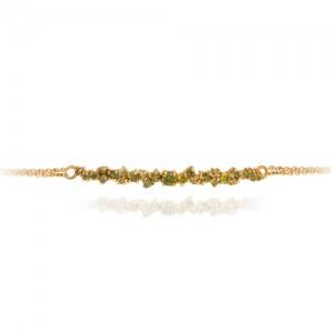 دستبند طلا زنانه با نگین کد cb324g