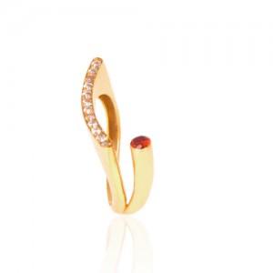 انگشتر طلا زنانه با نگین کد cr305