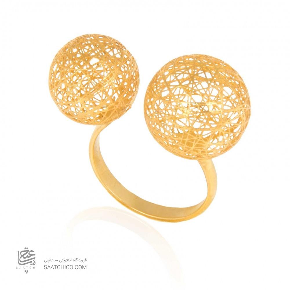 انگشتر طلا زنانه طرح فیوژن کد cr372