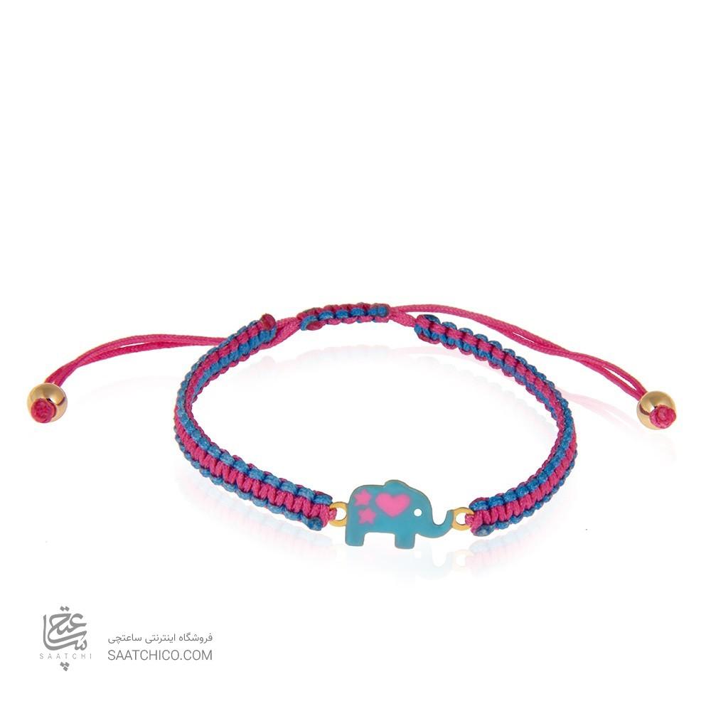 دستبند طلا کودک طرح فیل کد kb313
