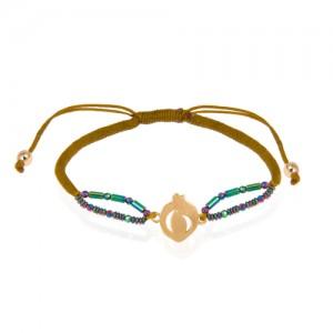 دستبند طلا زنانه طرح انار یلدا کد xb906