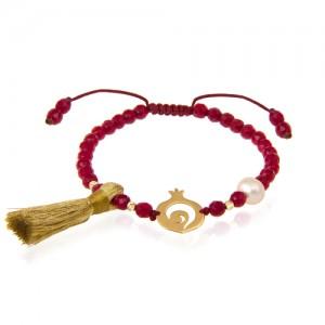 دستبند طلا طرح انار یلدا کد xb908