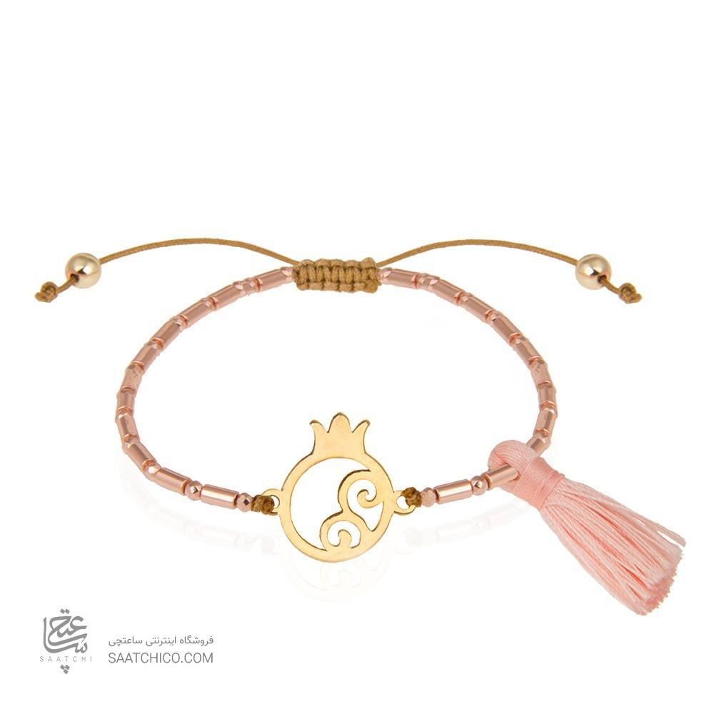 دستبند طلا طرح انار یلدا کد xb910