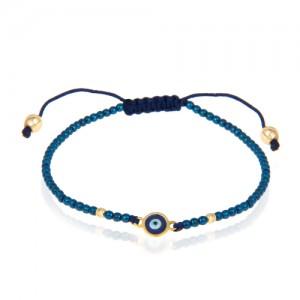 دستبند طلا زنانه طرح چشم نظر کد xb917
