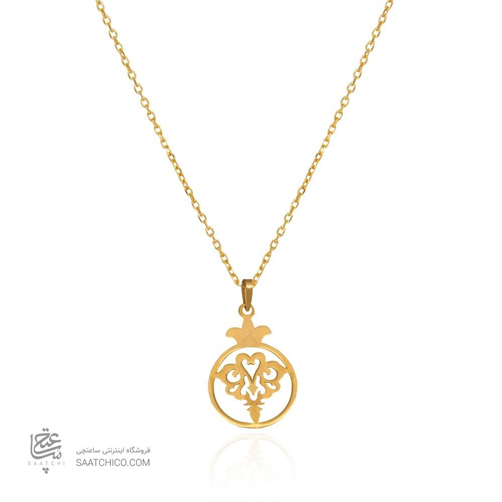 آویز طلا زنانه طرح انار یلدا کد LP612