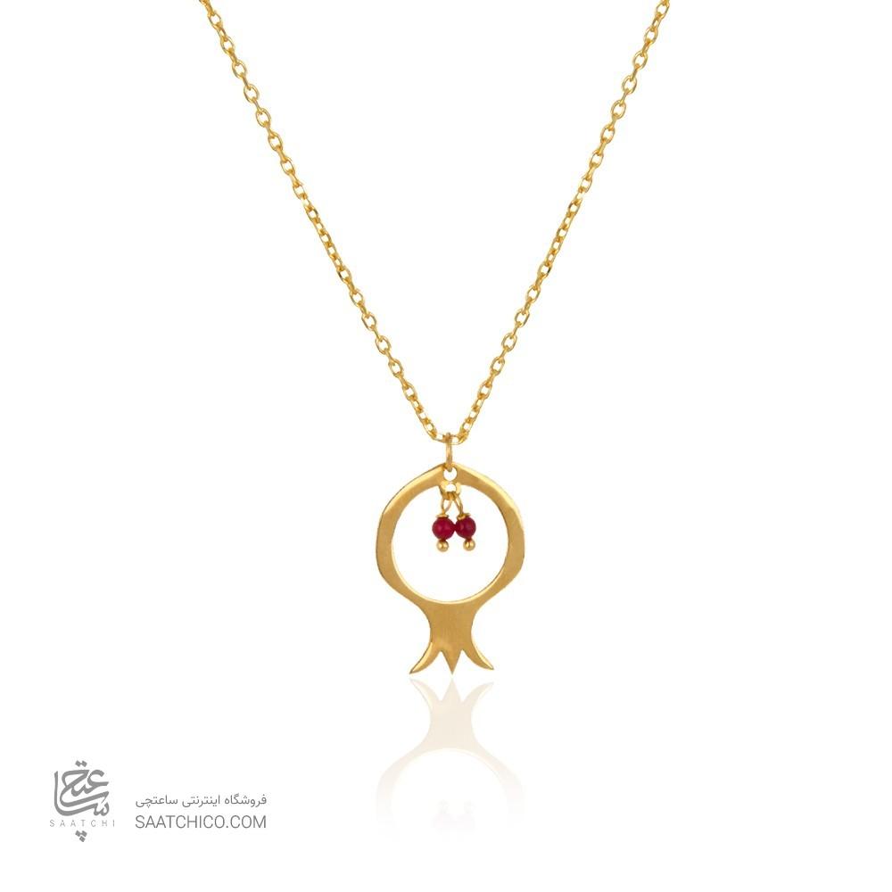 آویز طلا طرح انار یلدا کد LP618