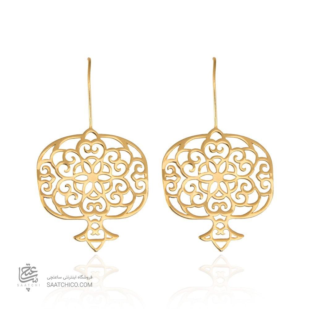 گوشواره طلا زنانه طرح انار یلدا کد le609